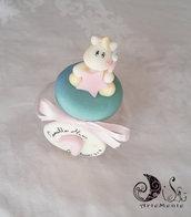 Barattolo portaconfetti compleanno bimba decorato a tema unicorno