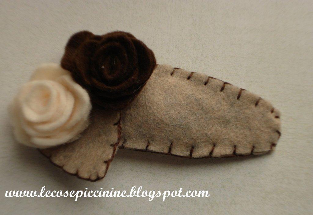 Clic clac rose con foglia