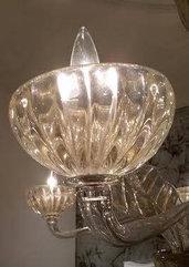 Foglia e coppa, pezzi di ricambio o sostituzioni per lampadari di Venini, Mazzega, Artemide, Toso, Barovier, con pezzi rotti, in vetro soffiato di Murano