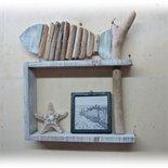 Mensola da parete RIGHT con legno di mare