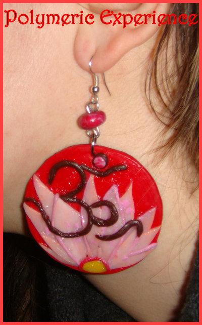 orecchino fiore di loto ohm