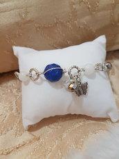 bracciale con agata blu