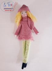 Bambola Doll 30 cm Le Tusì Bambole di stoffa fatte a mano