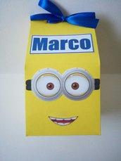 Scatolina scatoline porta confetti dolci caramelle festa compleanno evento minions cattivissimo me