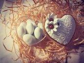 Bomboniera cuore porta gioie
