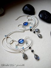 Blue Moon Deco Earrings - SPEDIZIONI GRATUITE CON RACCOMANDATA *