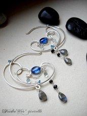 Blue Moon Deco Earrings - SPEDIZIONI GRATUITE CON RACCOMANDATA *