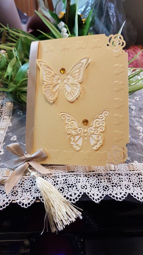 Libretto Messa con farfalle laser cut