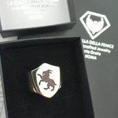 Anello Personalizzato Sigillo a forma di Scudo in Bronzo