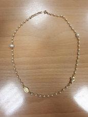 Collana rosario di perle