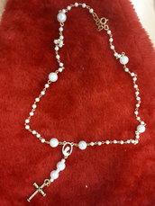 Collana rosario perle lunga