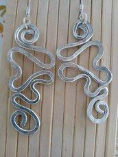 orecchini wire in alluminio