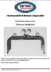Cartamodello per Pochette con Chiusura 130x80 mm.