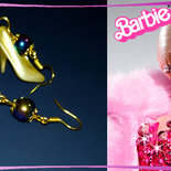 """Orecchini Barbie """"Scarpette dorate""""... per stare al passo coi tempi!"""