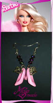 """Orecchini Barbie """"Scarpette lilla""""... al passo con stile!"""