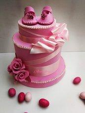 Torta scenografica rosa