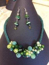 Parure verde smeraldo