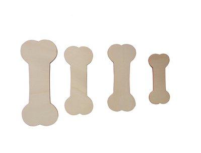 Sagome ossi in legno set 4 pezzi diverse dimensioni