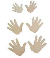 Sagome mani in legno 6 pezzi