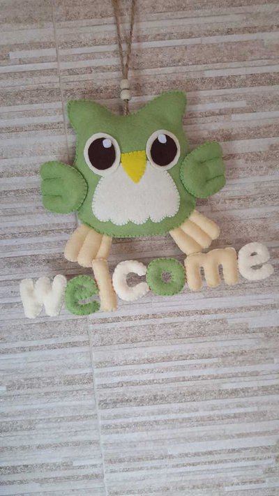 Gufetto welcome in pannolenci
