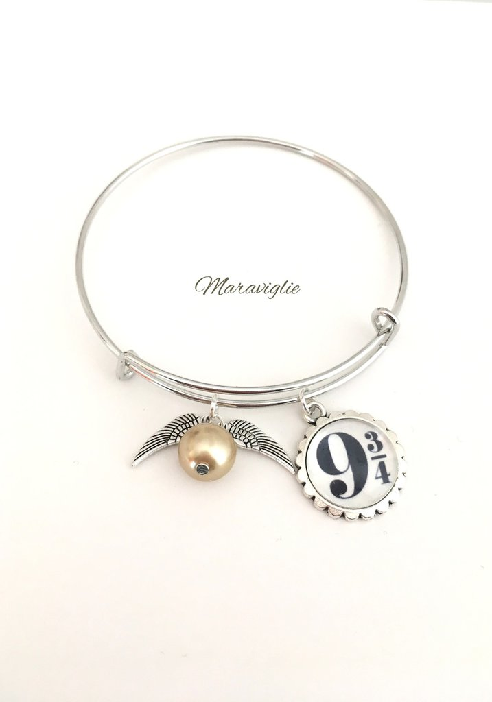 Bracciale Harry Potter, Bracciale Bangle, Bracciale Rigido, Harry Potter, HP