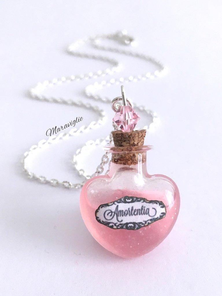 Collana Amortentia, Collana Pozione Magica, Collana Pozione D'Amore, Amortentia,Regalo San Valentino,