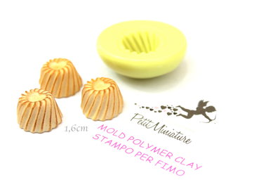 Stampi in silicone-Stampi per il fimo-Stampo Biscotto Cupcake-Stampo Gioielli-Stampi Silicone-Stampini in Silicone-Stampi Fimo-Fimo-Made in italy-Handmade ST440