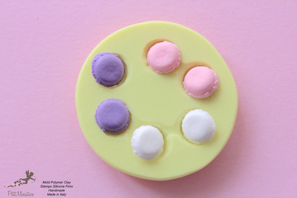 Macaron Stampo-Stampo Dollhouse-stampo miniature-Stampi in silicone-Stampi per il fimo-Stampo Macaron-Stampo Gioielli-Stampi Silicone-Stampini in Silicone-Stampi Fimo-Fimo-Made in italy-Handmade ST0003