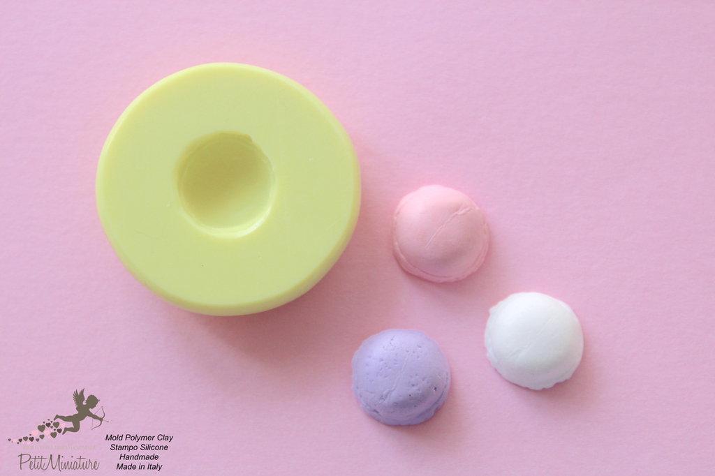 Macaron Stampo-Stampo Miniature-Stampo Dollhouse-Stampi in silicone-Stampi per il fimo-Stampo gelato-Stampo Gioielli-Stampi Silicone-Stampini in Silicone-Stampi Fimo-Fimo-Made in italy-Handmade ST006