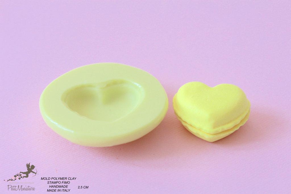 Stampi in silicone-Stampi per il fimo-Stampo biscotto Macaron-Stampo Gioielli-Stampi Silicone-Stampini in Silicone-Stampi Fimo-Fimo-Dollhouse-Made in italy-Handmade-ST028