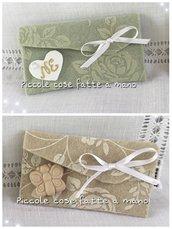 Bustina portaconfetti in feltro per Matrimonio o Comunione