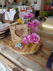 Porta foto con orchidea