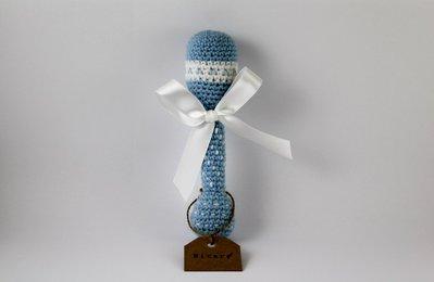 Sonaglino classico azzurro con fiocco