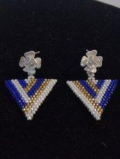 Orecchini triangoli blu