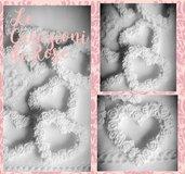 Gessi cuore con rose segnaposto gessetti profumati matrimonio bomboniera