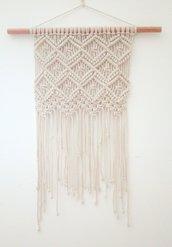 Arazzo o decorazione da parete in macramè in corda di cotone