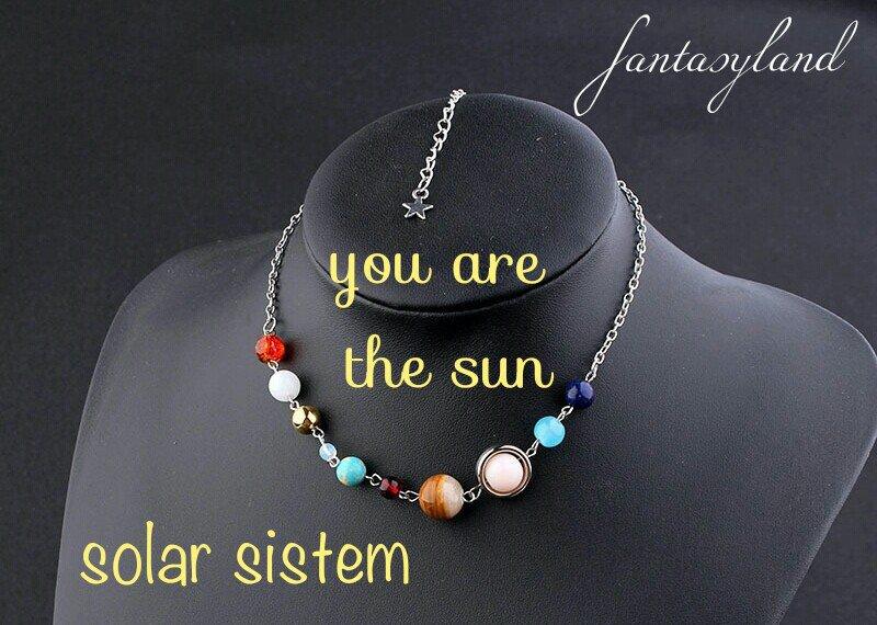 Collana sistema solare pianeti universo regalo