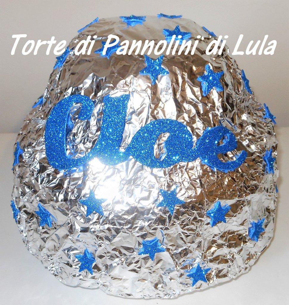 Torta di Pannolini Pampers cioccolatino Bacio idea regalo nascita battesimo