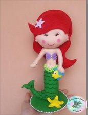 Principessa Ariel La Sirenetta in pannolenci