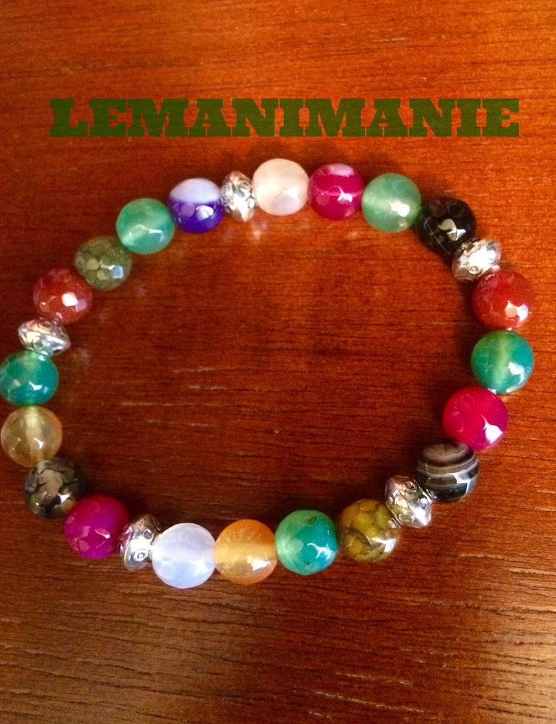 #bracciale #uomo # pietre #colorate