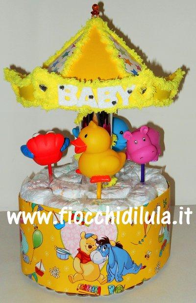 Torta Di Pannolini Pampers Giostra Carosello Carillon