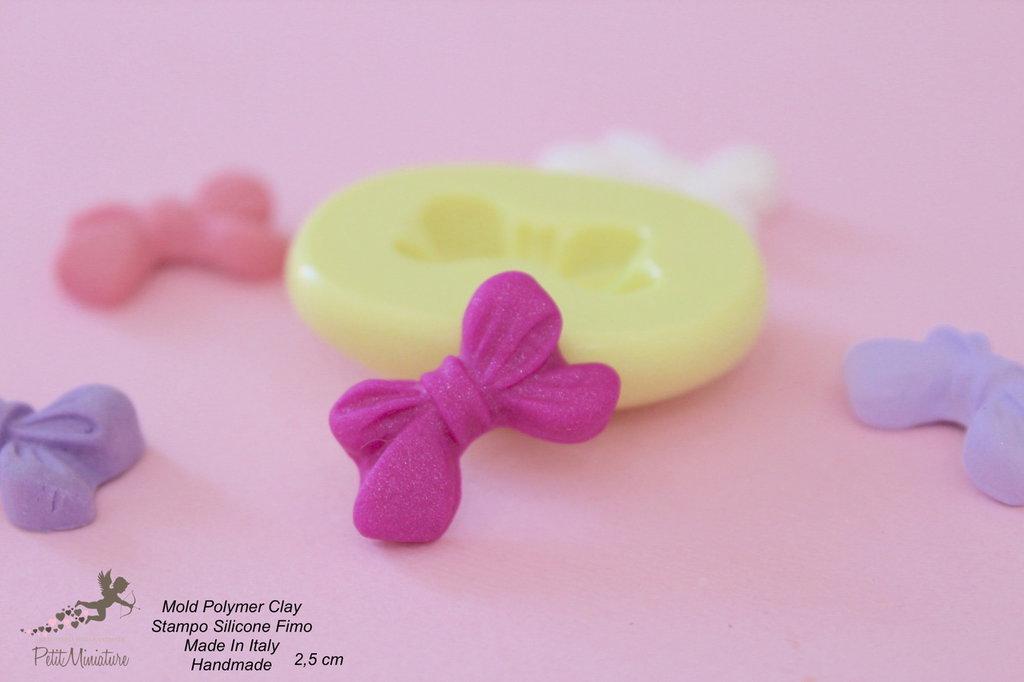 Stampi in silicone-Stampi per il fimo-Stampo fiocco stampi-Stampo Gioielli-Stampi Silicone-Stampini in Silicone-Stampi Fimo-Fimo-Dollhouse-Made in italy-Handmade-ST032