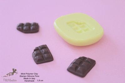 Stampi in silicone-Stampi per il fimo-Stampo barretta cioccolato stampi-Stampo Gioielli-Stampi Silicone-Stampini in Silicone-Stampi Fimo-Fimo-Dollhouse-Made in italy-Handmade-ST033