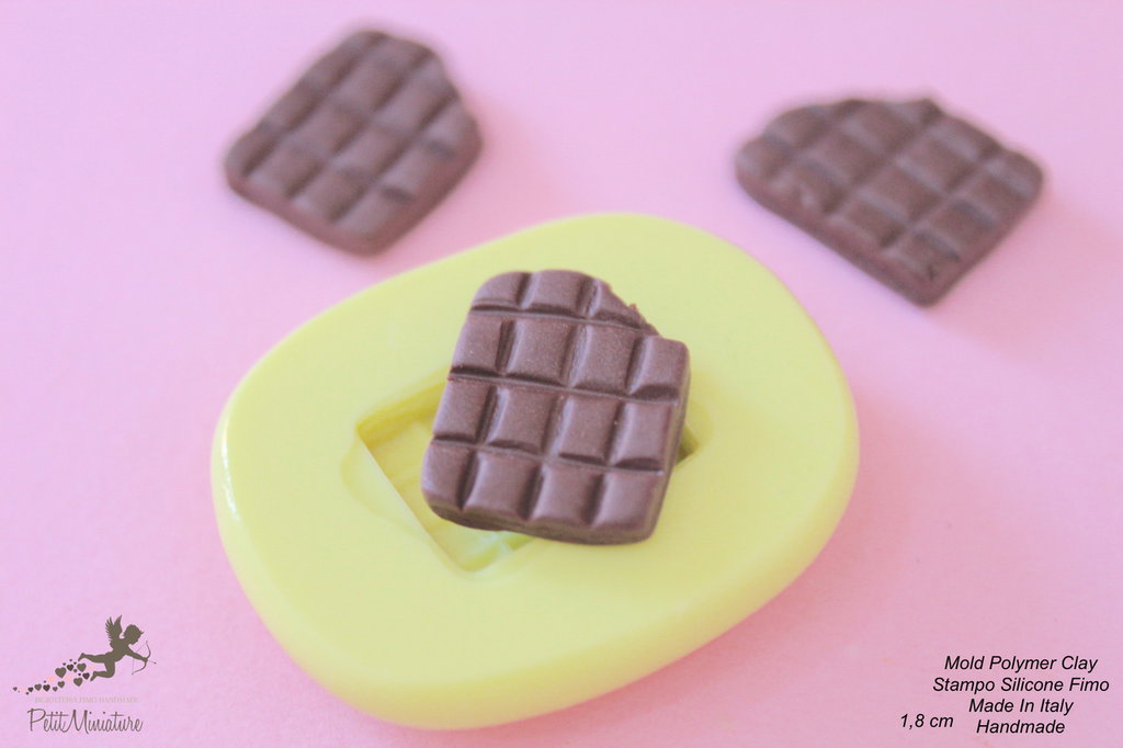 Stampi in silicone-Stampi per il fimo-Stampo barretta cioccolato stampi-Stampo Gioielli-Stampi Silicone-Stampini in Silicone-Stampi Fimo-Fimo-Dollhouse-Made in italy-Handmade-ST034