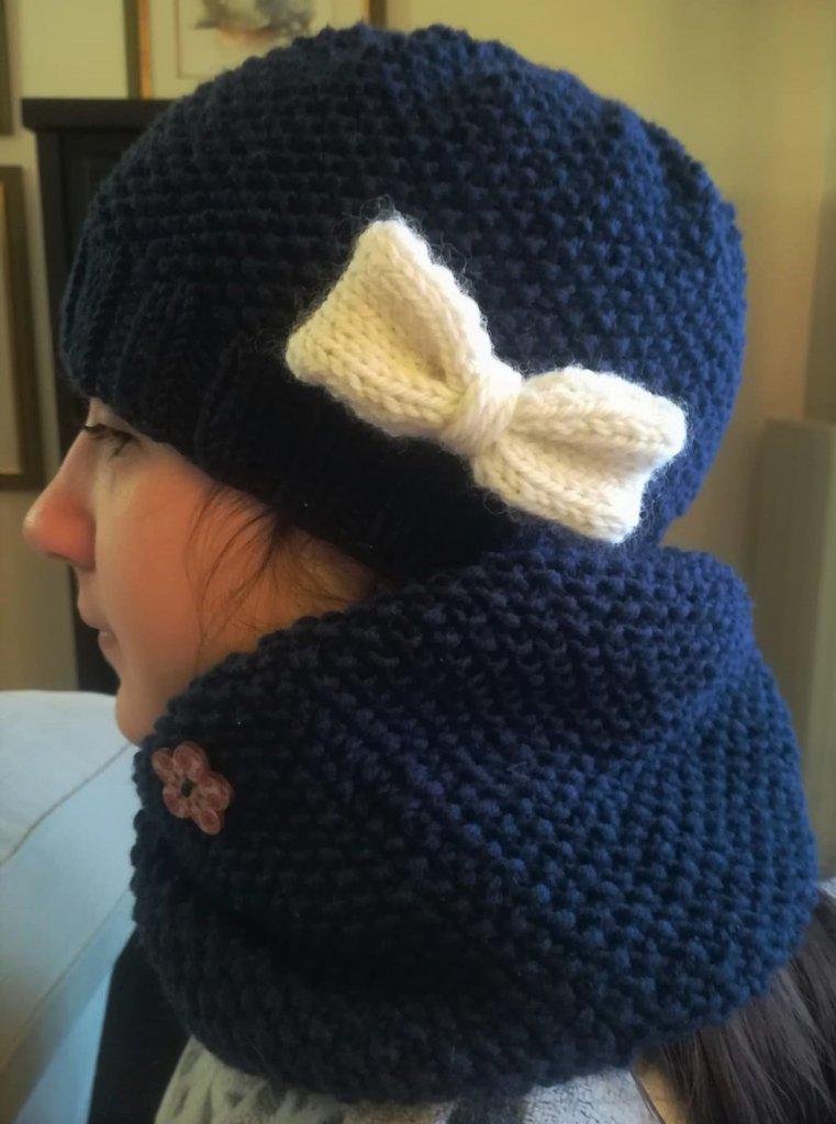 design professionale caldo-vendita stile squisito SET per bambina con CAPPELLO e SCALDACOLLO in pura lana merino con punto