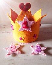 Corona feltro per compleanno Handmade KriTiLo