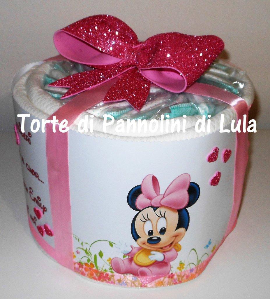 TORTA di PANNOLINI Pampers + copertina NOME DEDICA PERSONALIZZABILE idea regalo nascita battesimo