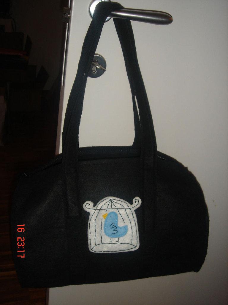 borsa bauletto nera