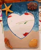 Cornice portafoto da tavolo dipinta a mano