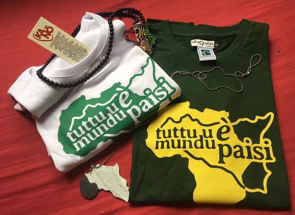"""t-shirt """"tuttu u mundu è paisi"""""""